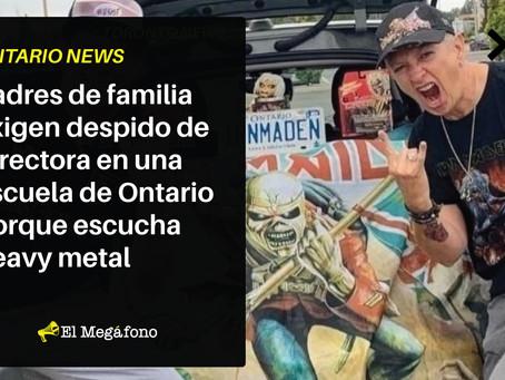 Padres de familia exigen despido de directora en una escuela de Ontario porque escucha heavy metal