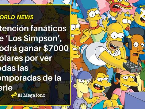 Atención fanáticos de 'Los Simpson' podrá ganar $7000 dólares si ve todas las temporadas de la serie