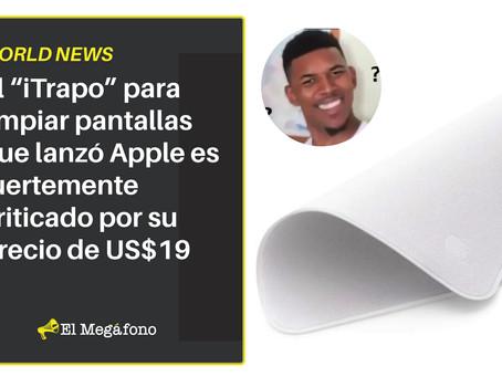 """El """"iTrapo"""" para limpiar pantallas que lanzó Apple es fuertemente criticado por su precio de US$19"""