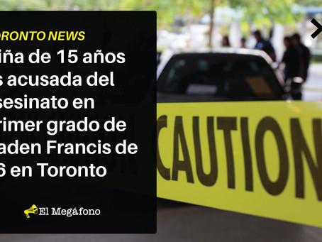 Niña de 15 años es acusada del asesinato en primer grado de Caden Francis de 16 en Toronto