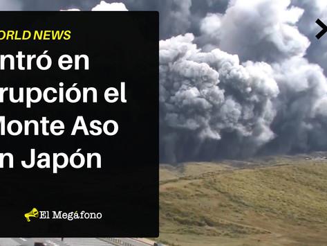 Entró en erupción el Monte Aso en Japón