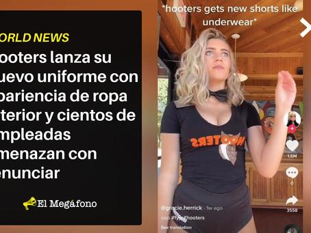 Hooters lanza su nuevo uniforme que parece ropa interior y sus empleadas amenazan con renunciar