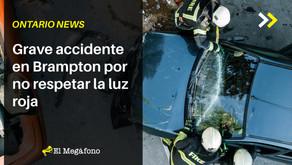 Grave accidente en Brampton por no respetar la luz roja