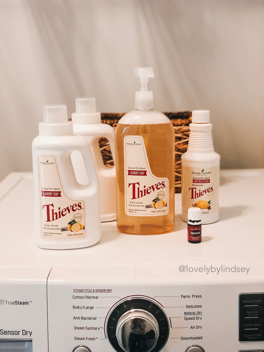 Essential oil HACK for Thieves Laundry Soap. One step closer to chemical-free living with essential oil infused laundry detergent. Learn more at: www.essentiallylindseyrae.com