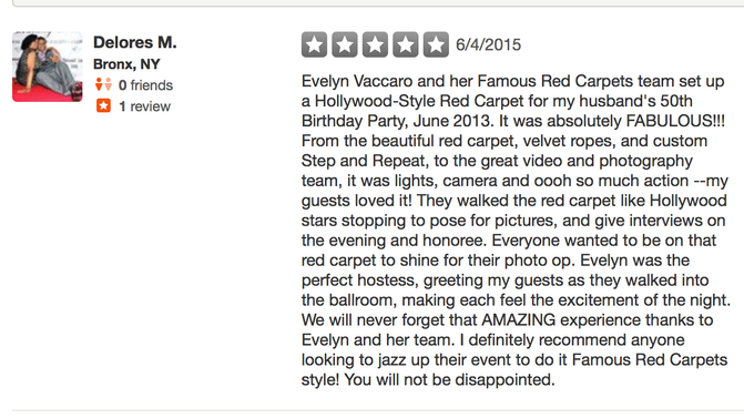 FAMOUS RED CARPETS GETS RAVE REVIEW!