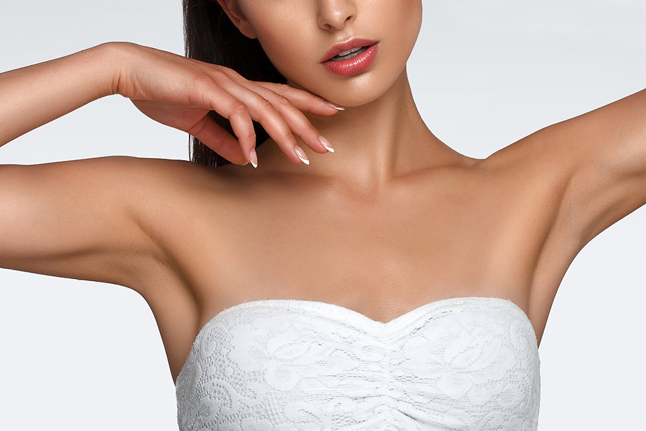 Armpit skin care, hair removal and hair