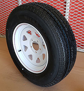 Mounted Trailer Tire and Steel Rim_5 hol