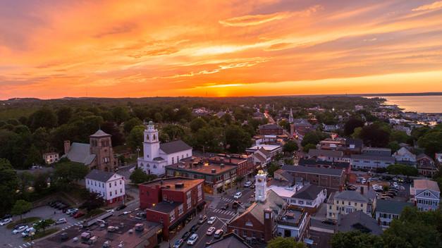 Sunset on Main Street Plymouth