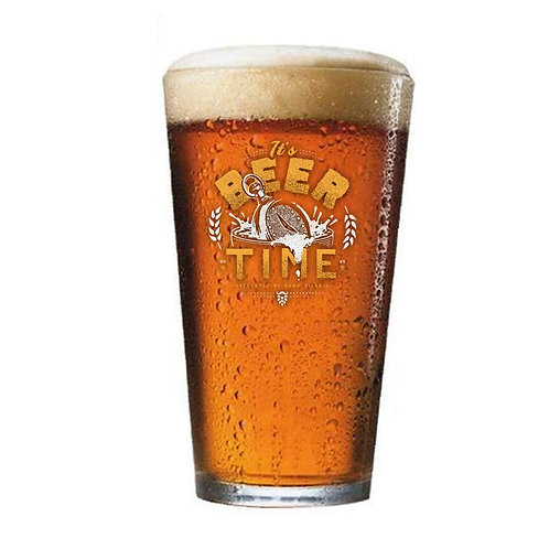 It's Beer Time Glass