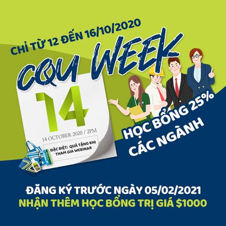Tại sao bạn nên tham gia 'Tuần lễ CQU' từ 12 đến 16/10?