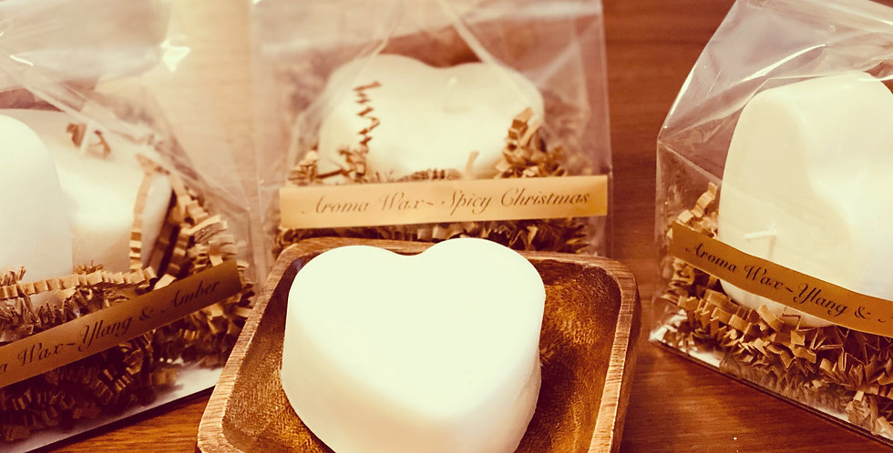 Ylang & Amber Heart Candle Set
