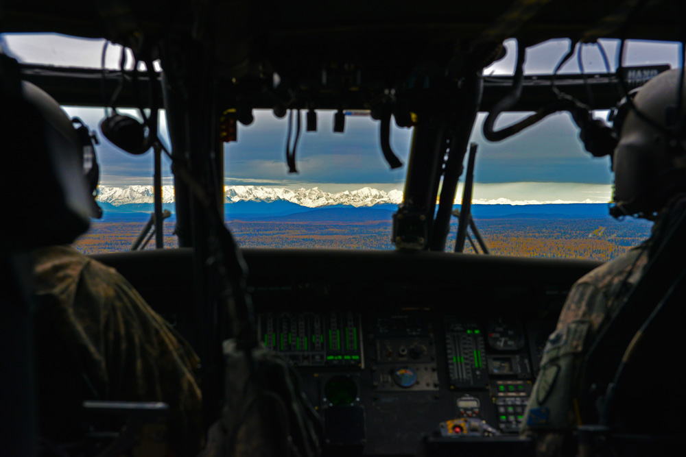 Blackhawk and Mountains