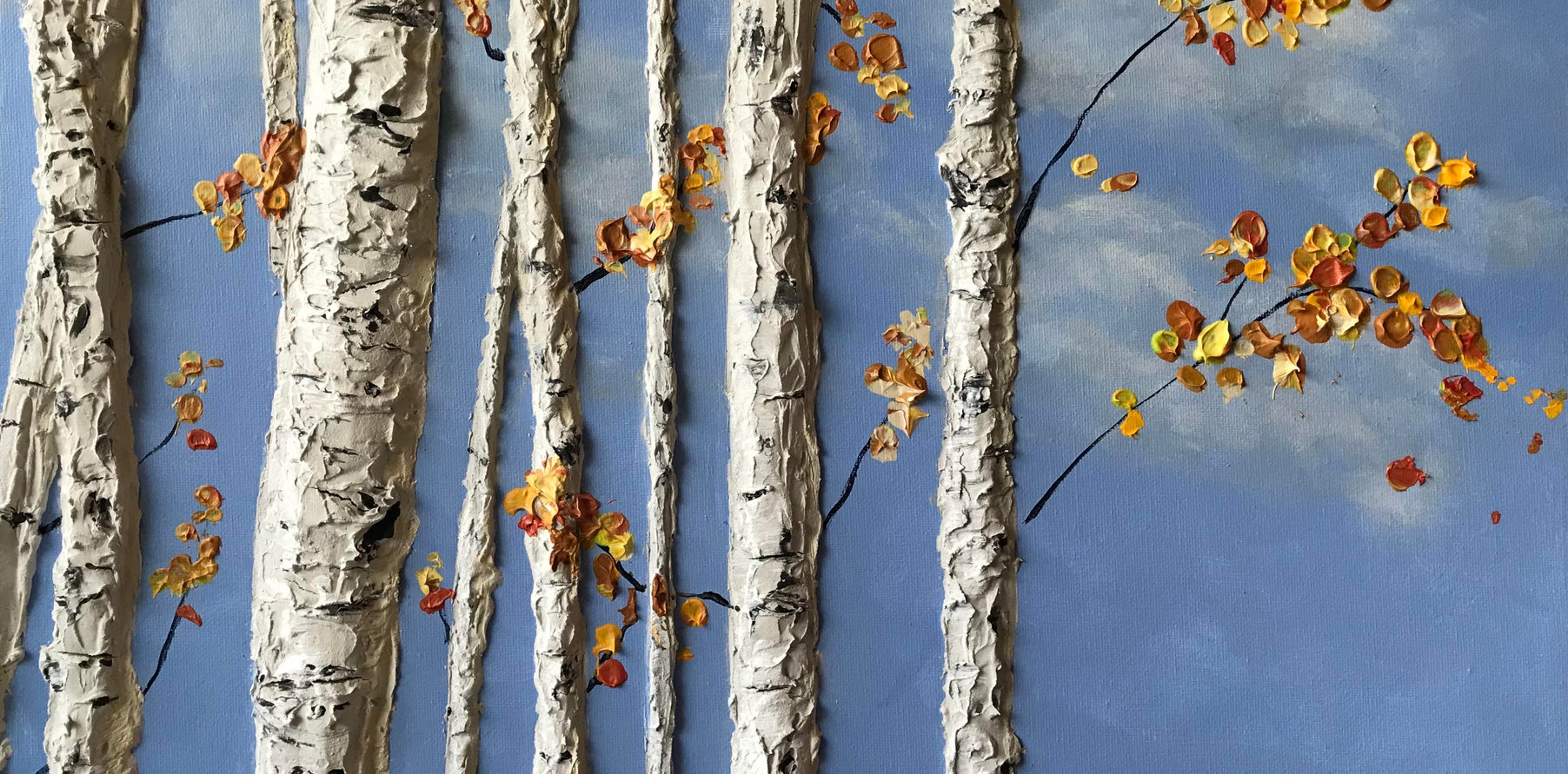 Blue Sky Birch Orange
