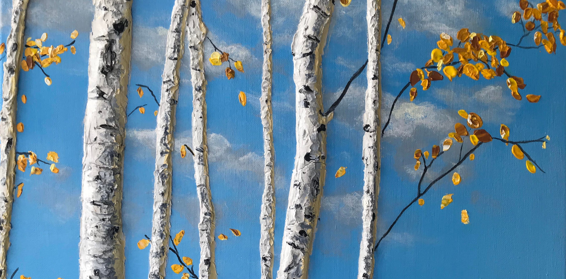 Blue Sky Birch Yellow