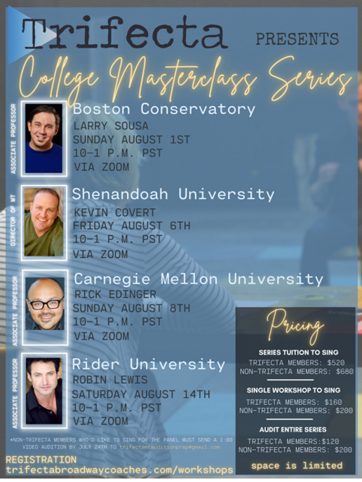 TRIFECTA  POSTERS  COLLEGE MASTERCLASS S