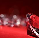 Red Bkgd Diamonds