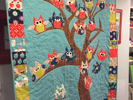 Owl Quilt Complete