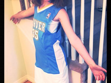 Turn an NBA Jersey into a Dress