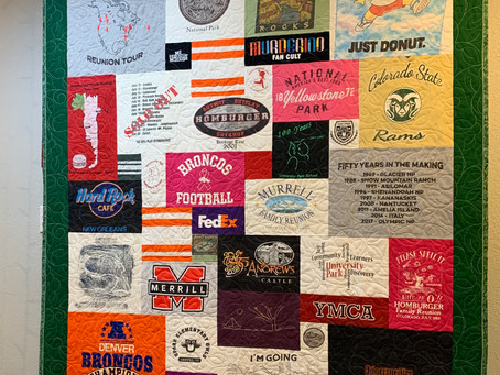 T-Shirt Quilts Made in Denver!