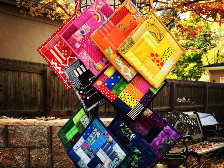 Rainbow Potholders, Pillows and Then Some
