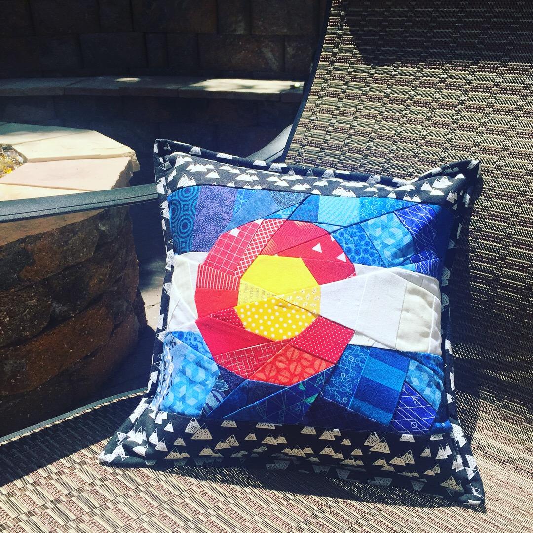 Colorado Paper Pieced Pillow
