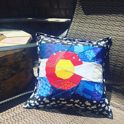 Colorado Paper Pieced Pillow