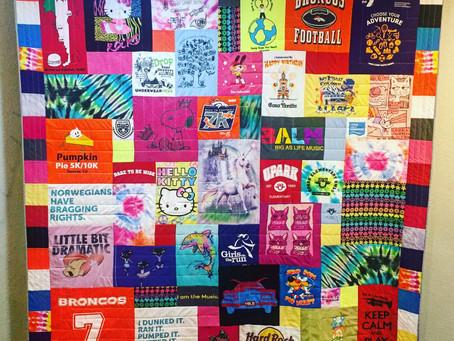 Sophia's T-shirt Quilt