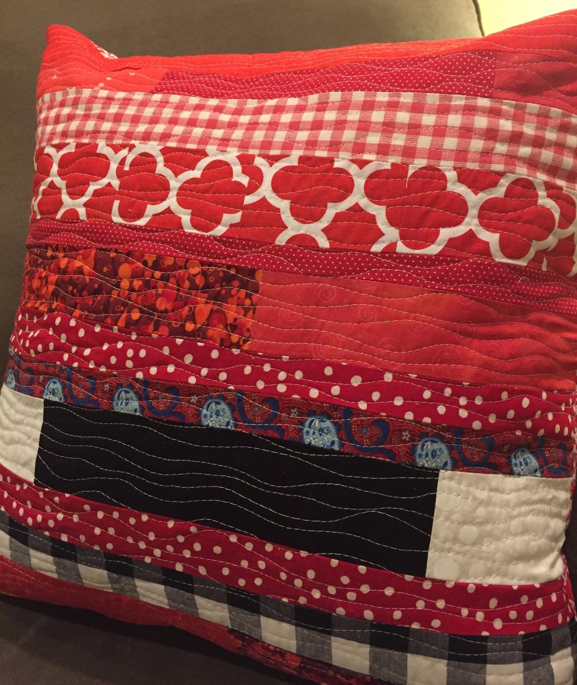 String Quilt T-shirt Pillow