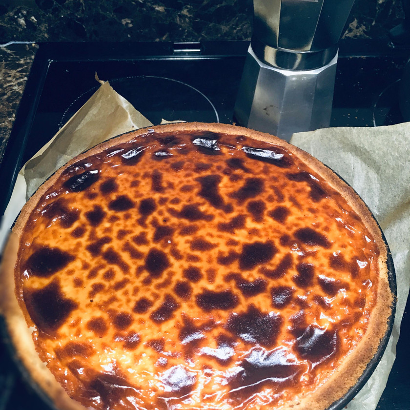 Basque style Honey and Lemon Cheesecake