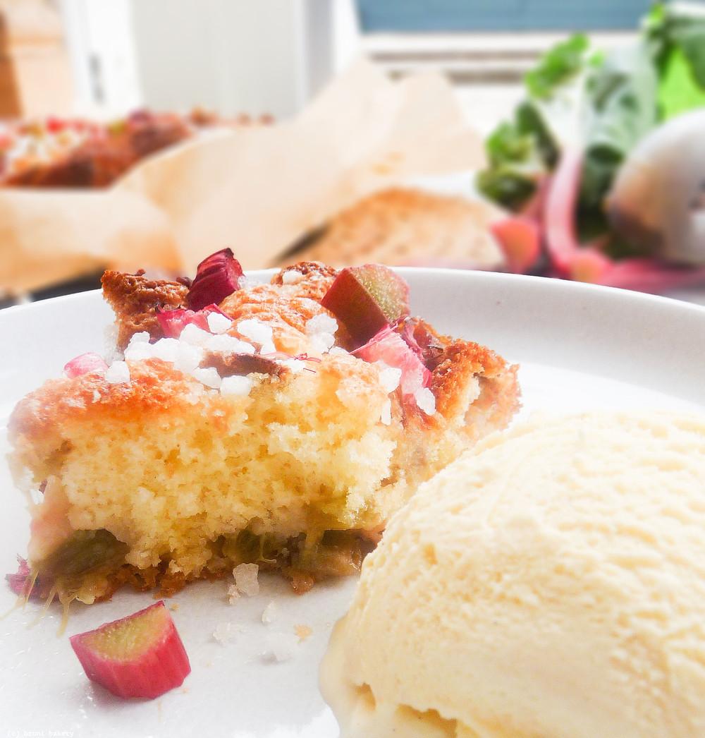 Rhubarb Buttery Cake (Rabarberkaka)