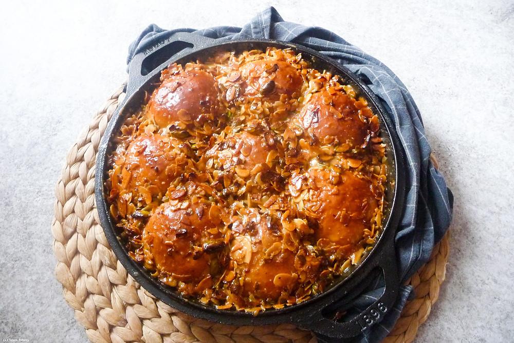 Cardamom Bread with Almond & Pistachio Praline
