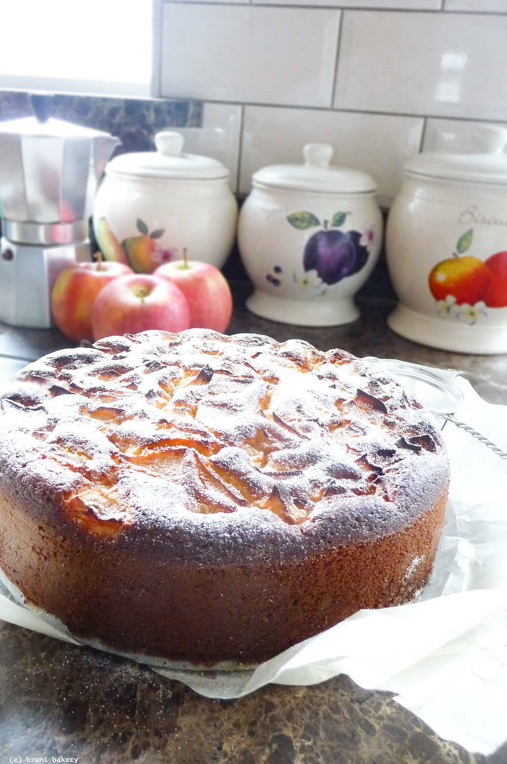 Quick Apple Kefir Cake