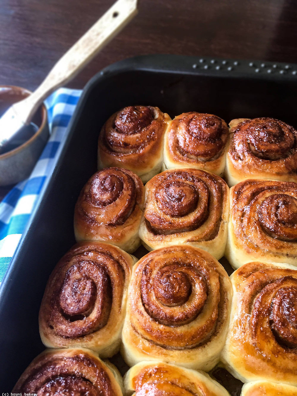 Mini Cinnamon and Cardamom Rolls with Brown Sugar Glaze