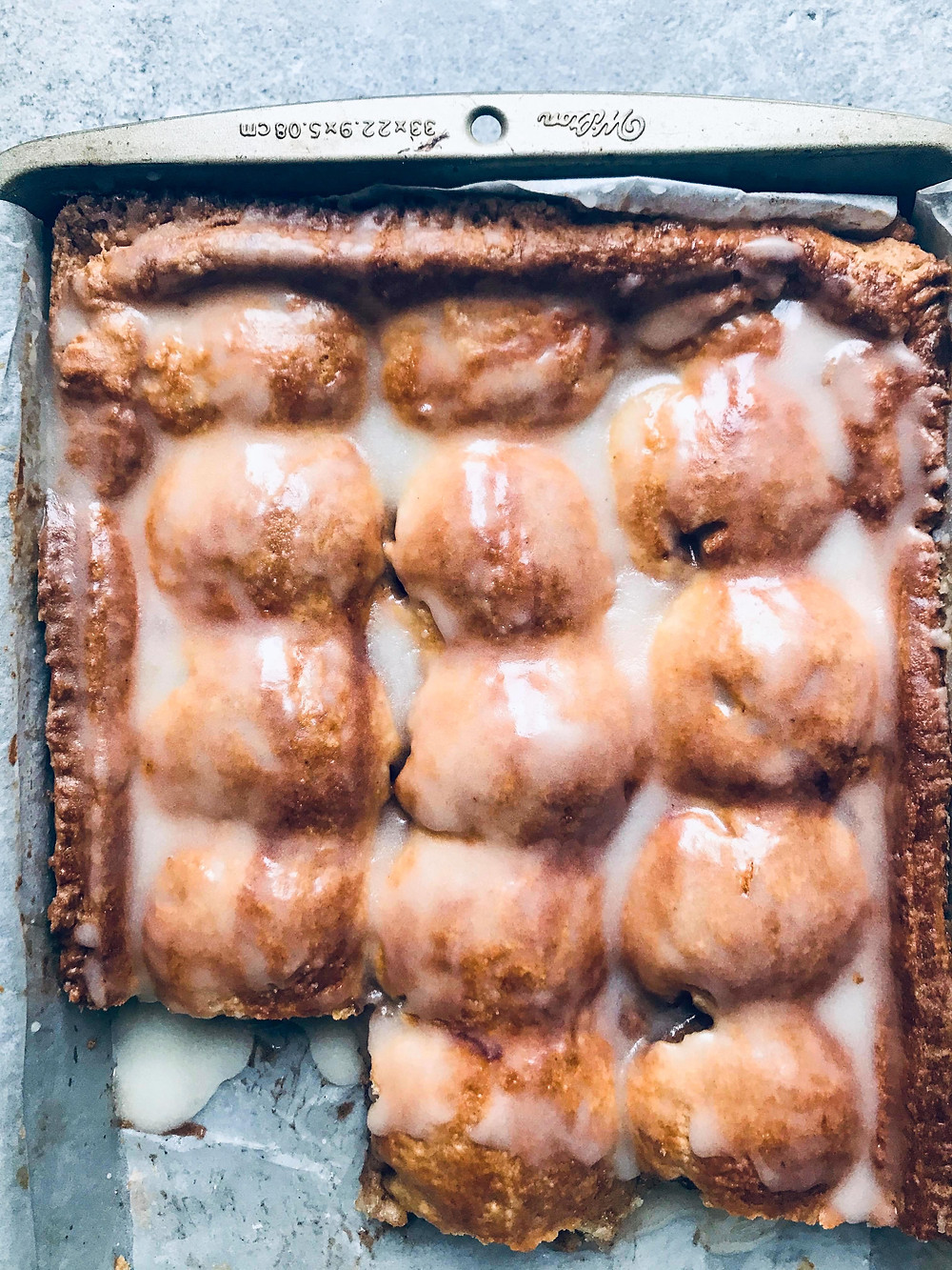 Cardamom Apple Slab Pie