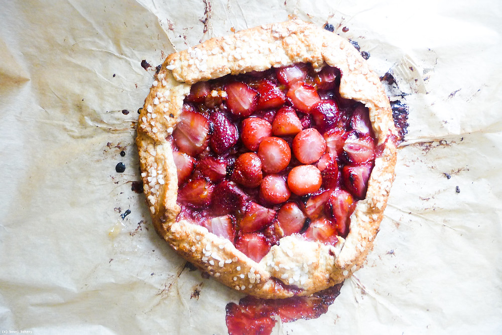 Strawberry and Pecan Galette