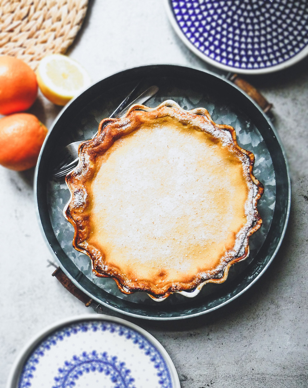 Lemon and Orange Custard Pie