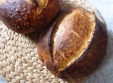 Breakfast Sourdough Bread - mature starter