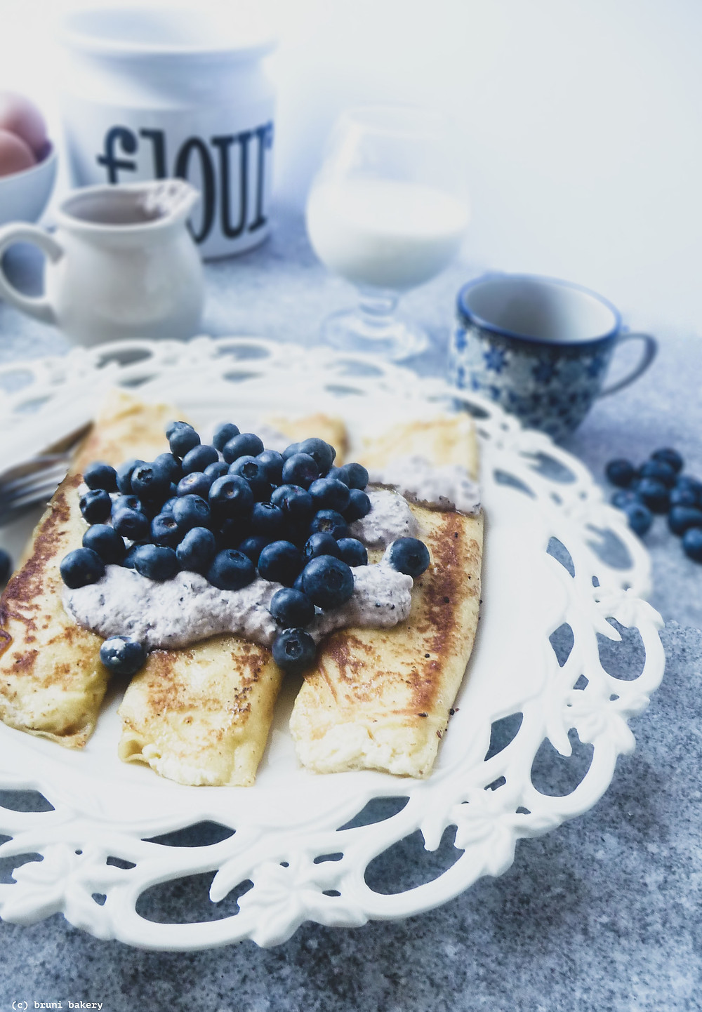 Classic Crepes with Sweet Ricotta Cheese Recipe