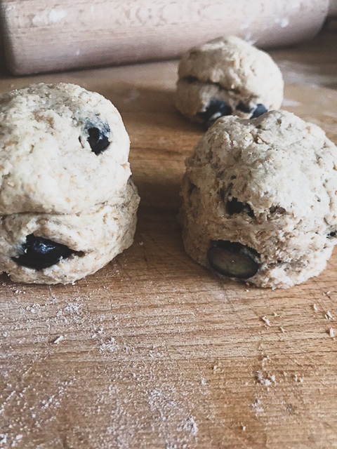 Wholemeal Spelt and Blueberry Scones (Irish Scones)