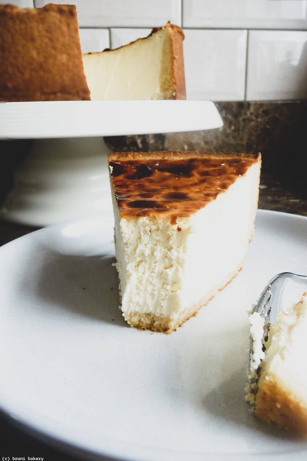 Basque style Honey and Lemon Cheesecake
