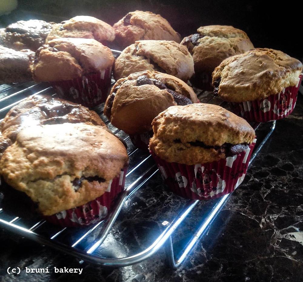 Jumbo Nutella Muffins