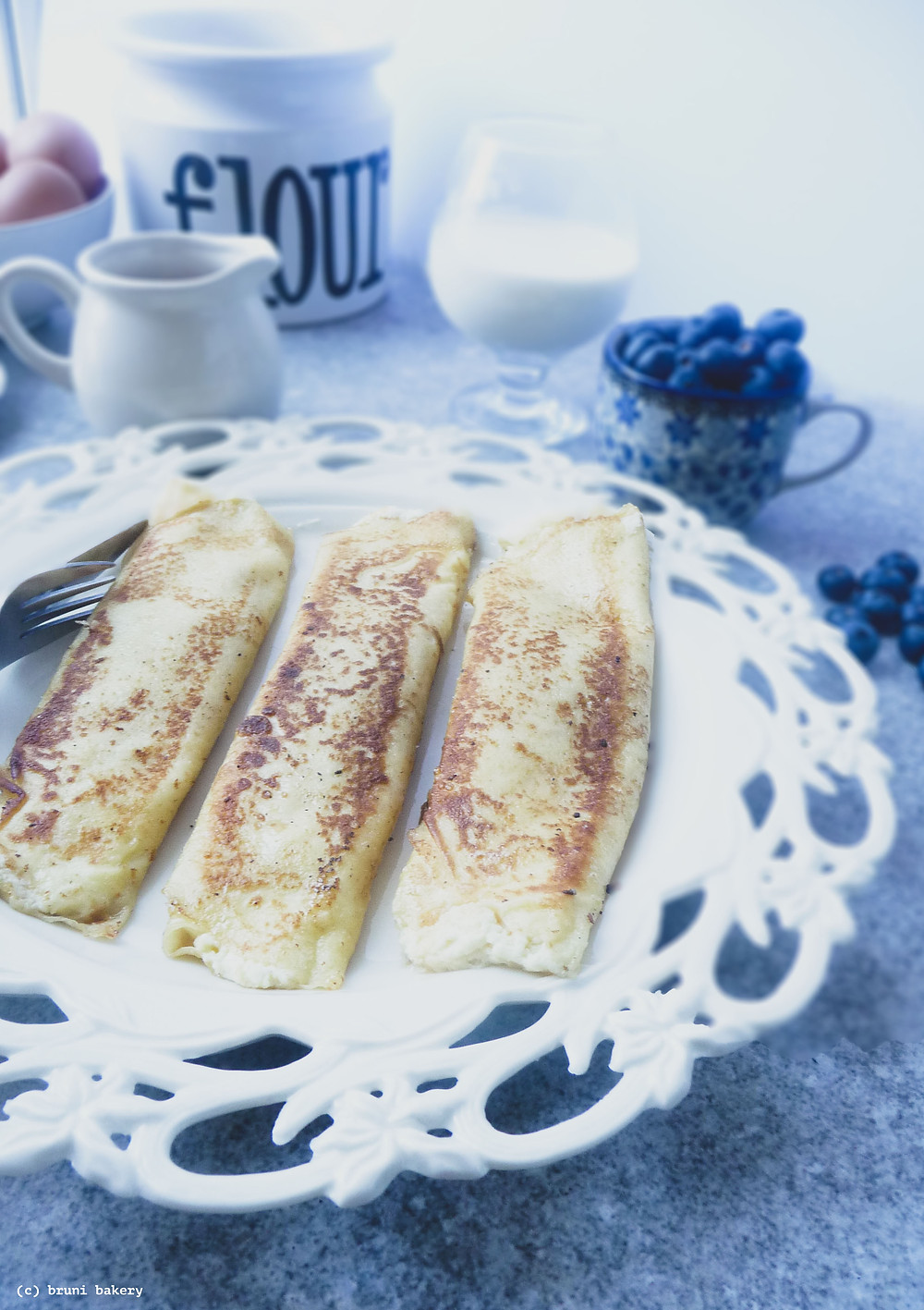 Classic Crepes with Sweet Ricotta Cheese