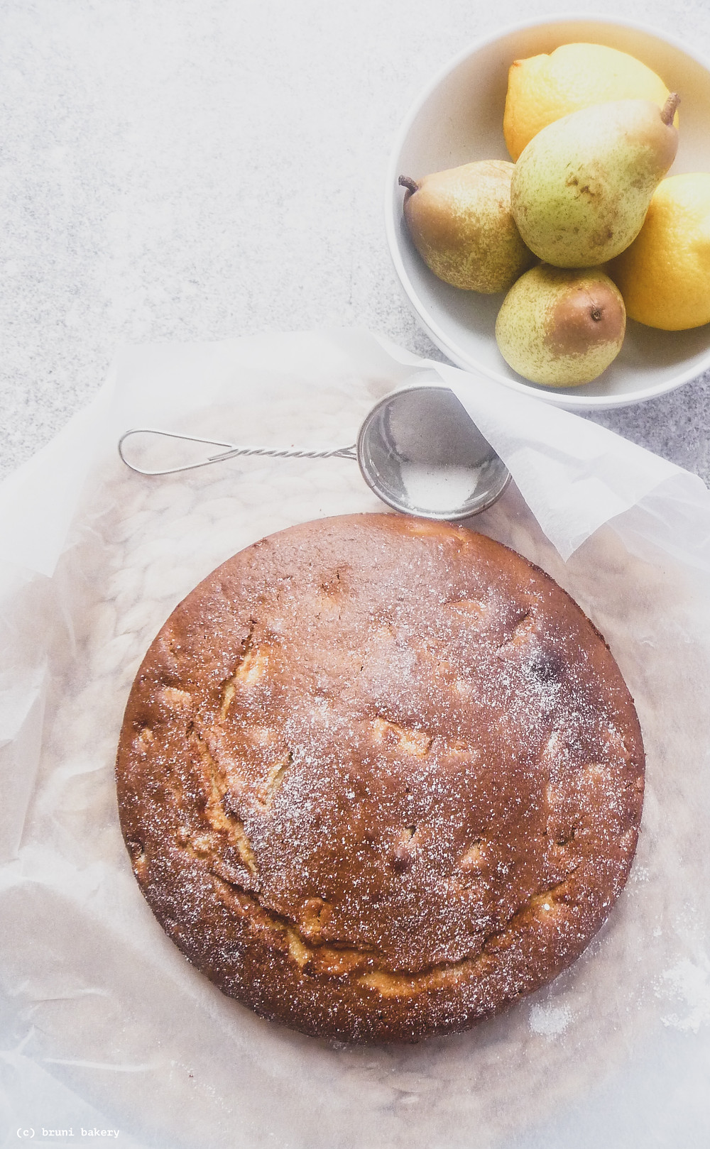 Italian Pear and Mascarpone Cake