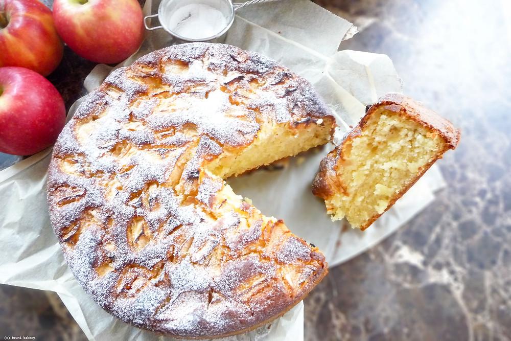 Quick Apple Kefir Cake