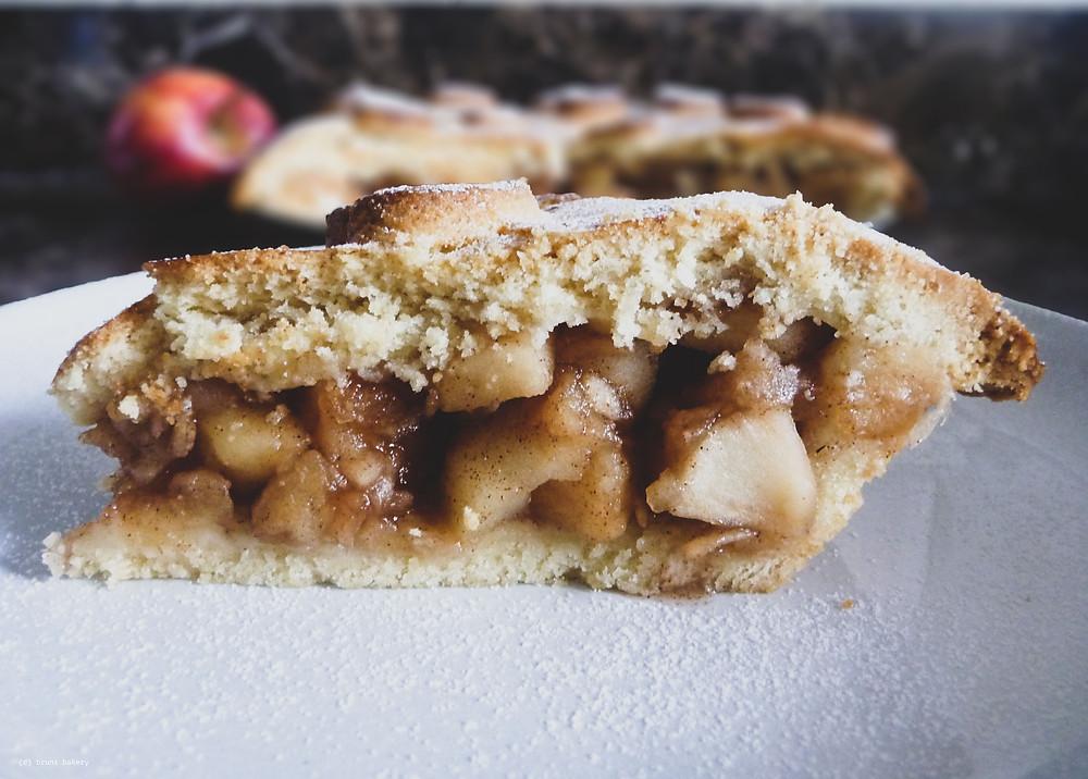 Apple Shortbread Pie