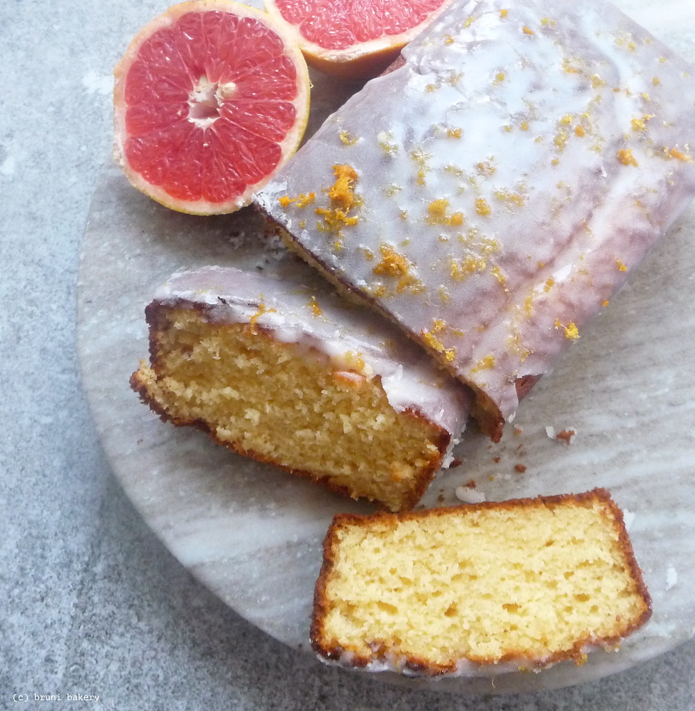 Grapefruit Ricotta and Yogurt Cake