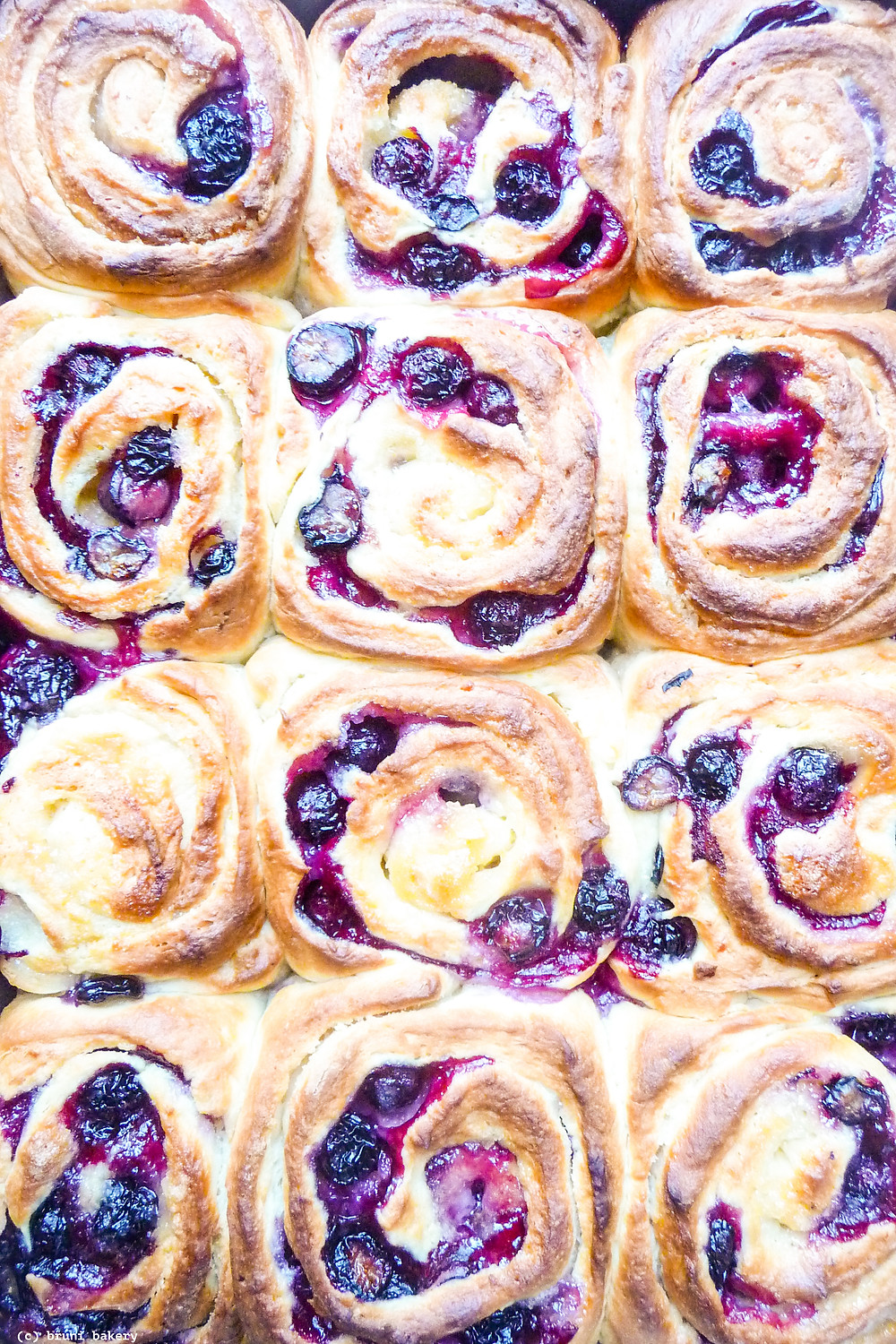 Overnight Lemon and Blueberry Rolls