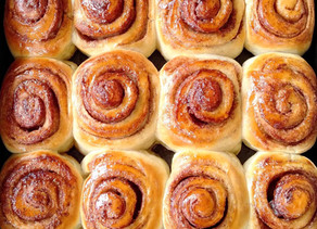 Mini Cinnamon and Cardamom Rolls with Brown Sugar Glaze