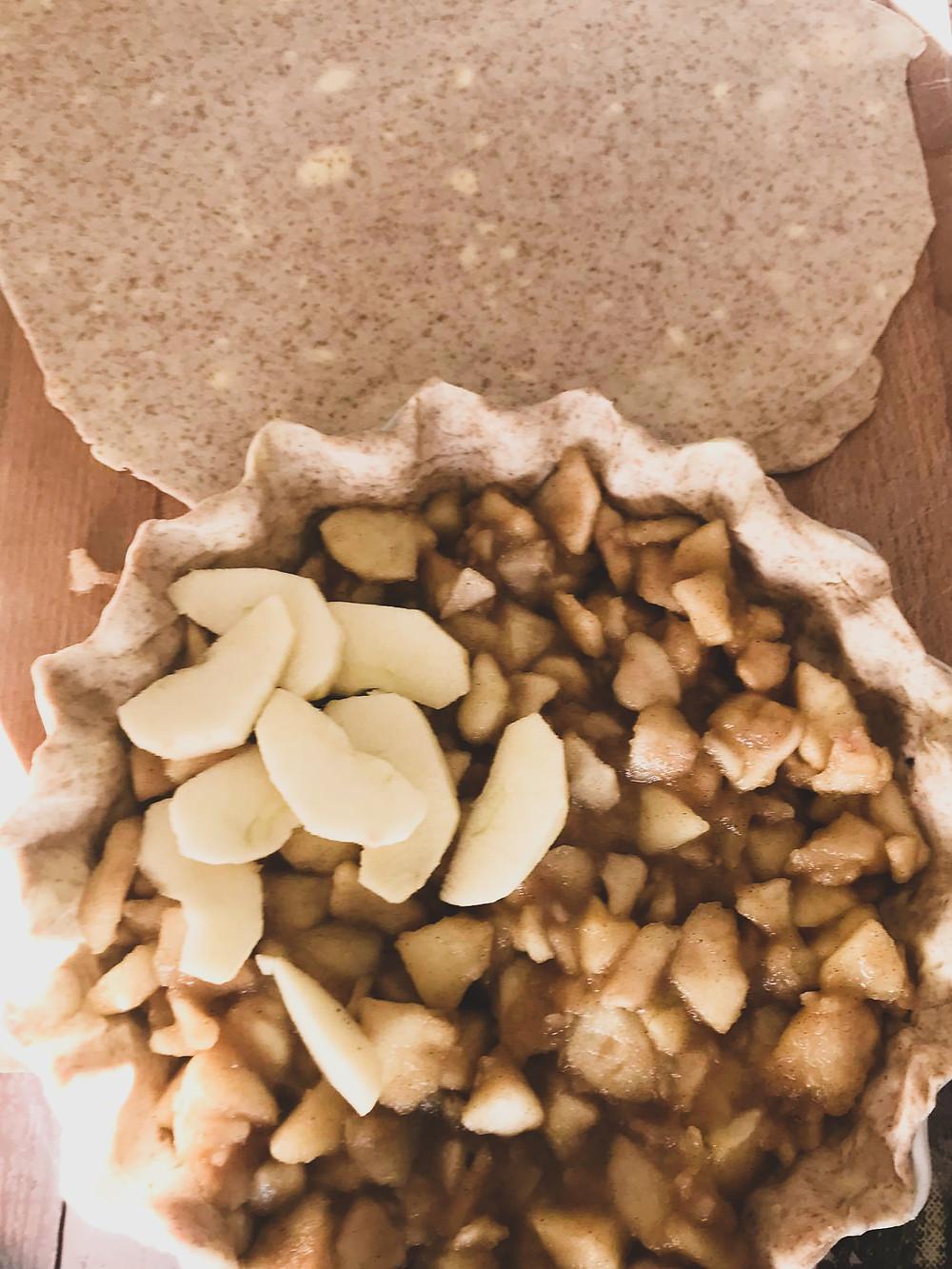 Apple Pie on all-butter wholemeal spelt crust