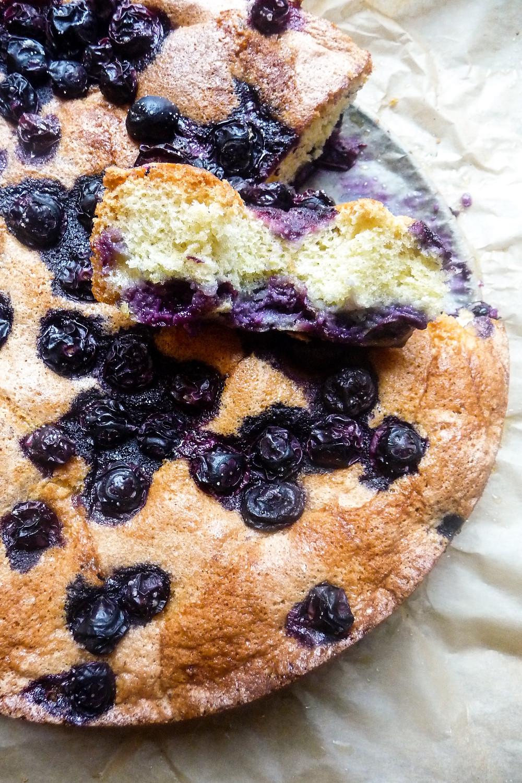 Lemon and Blueberry Breakfast Cake